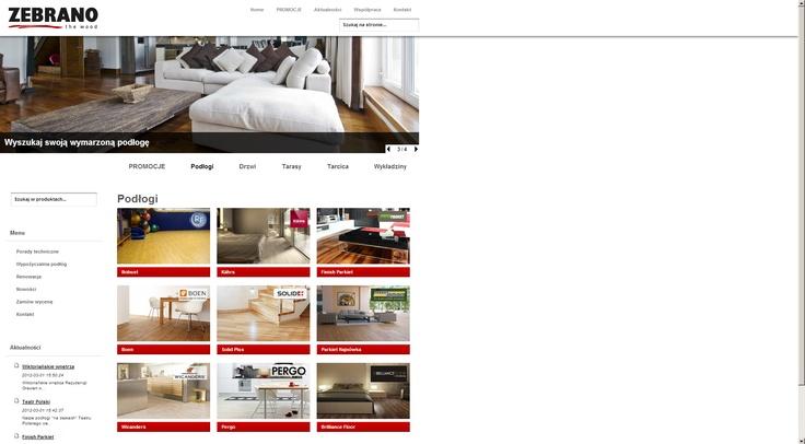 Strona WWW z elementami sklepu dla Zebrano #website #design #ecommerce