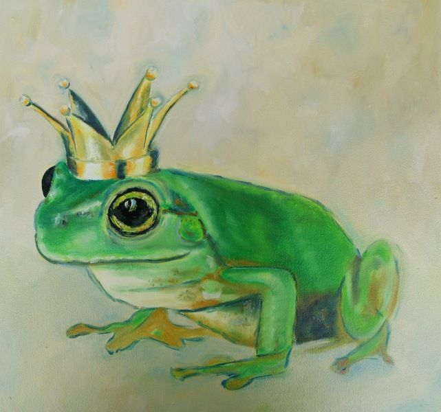 Ölmalerei - Ölbild Frosch - ein Designerstück von Art-istique bei DaWanda