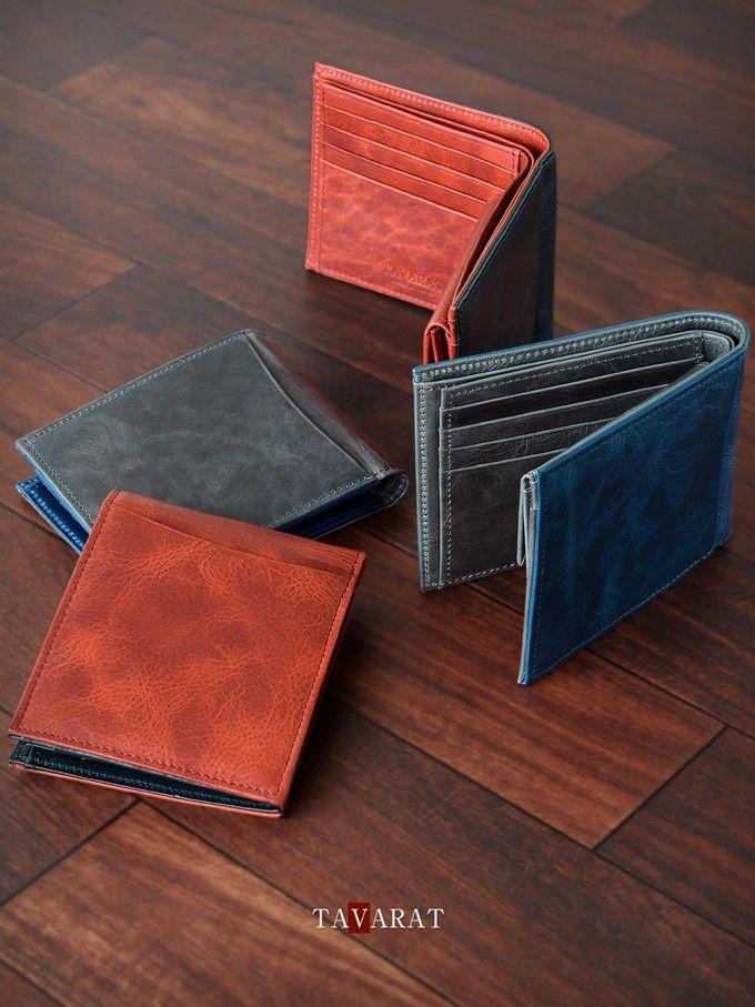 表裏に同じ種類の本革を異なる配色で使用した二つ折り財布Tps-030。ワックス加工を施した上質のオイルキップレザーの質感とツートンカラーの配色が大人の遊び心をくすぐります。 カード収納の多さ(7枚)も魅力のアイテム。