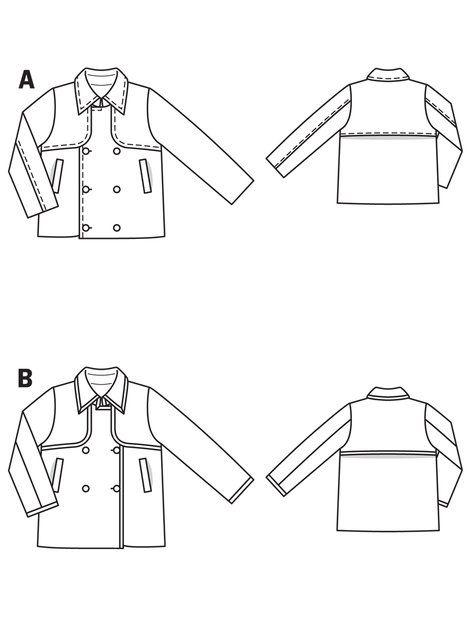 BurdaStyle : Boys Trench Coat 02/2010 #142