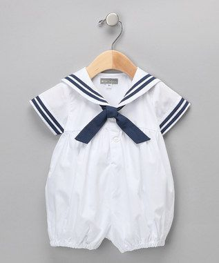 Too cute.  A baby's sailor suit for special occasions.  I keep pinning these dressy clothes.  It's like I think they'll never play and get dirty!