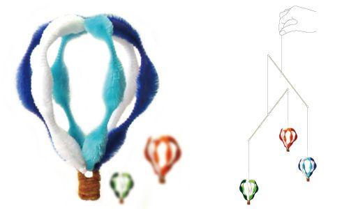 簡単手作り工作 モールアートモビール 44:気球 簡単ハンドメイド雑貨-モールアート工作キット通販のクラフトジャム