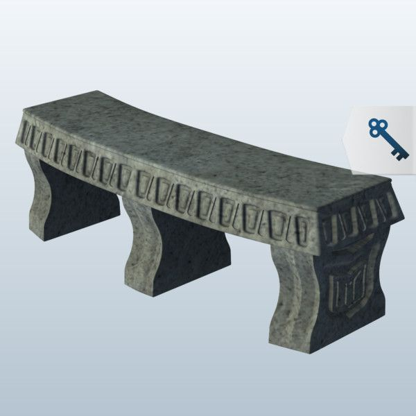 Curved Stone Bench 3D Model Made with 123D MeshMixer