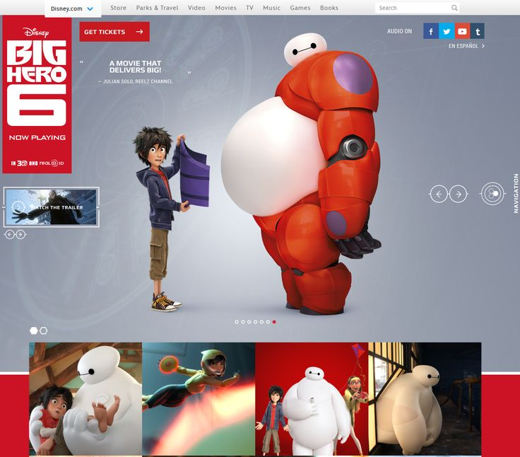 Big Hero 6 Website Design, #Art_Direction, #HTML5, #UX, #Web #Design