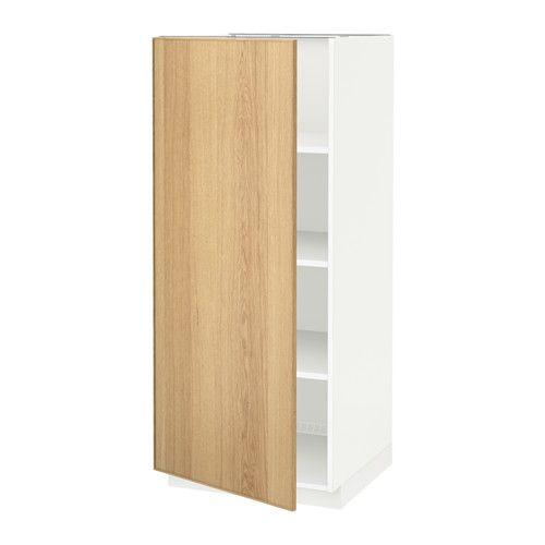 Best Metod High Cabinet With Shelves White Ekestad Oak Ikea 400 x 300