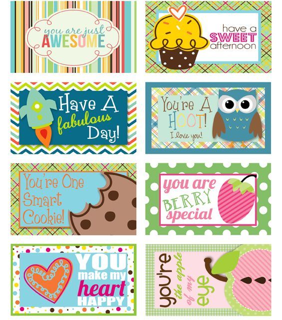 So fun! LOTS of Lunch Box Love #printable #school #notes #lunch