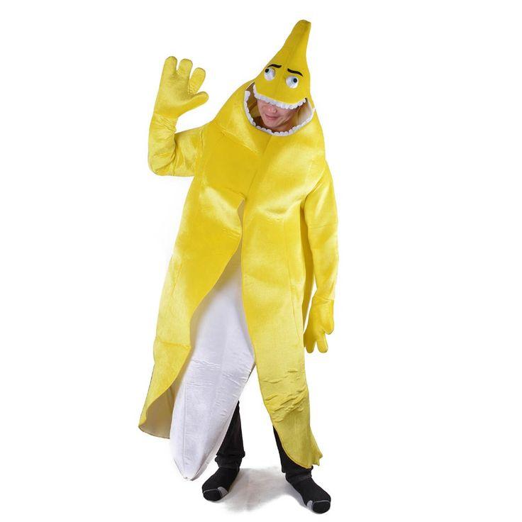 ==> [Free Shipping] Buy Best Yellow Banana Fancy Dress Unisex Adult Peeled Banana Costume Naughty Flashing Banana Mascot Funny Mascotte Halloween Costumes Online with LOWEST Price | 32791280293