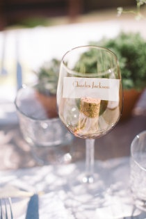 place card idea for your winery/wine themed wedding or dinner party