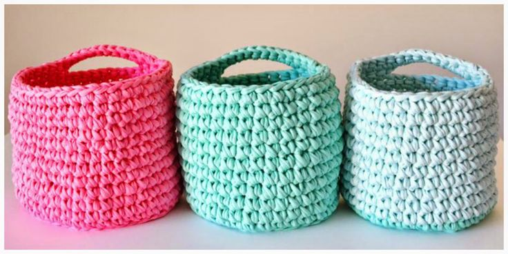three t-shirt yarn baskets and Dillon - Thirteen Thirtyfive