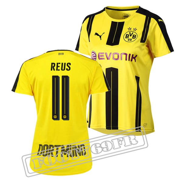 Promo Maillot Du Reus 11 Borussia Dortmund Femme Jaune/Noir 16/17 Domicile : Bundesliga