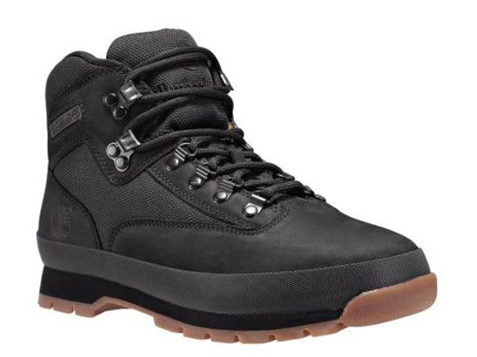 Mens Euro Hiker Mid Fabric and Leather Boots