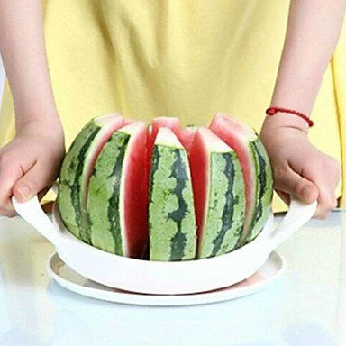 nice Stainless Steel White Convenient Watermelon Cutter Kitchen Tool Fruit Slicer20*20cm
