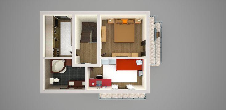proiecte de casa cu parter si mansarda 3 plan mansarda
