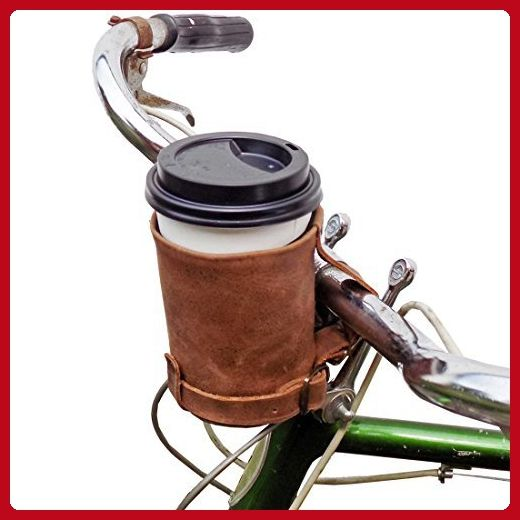 Cruzy Kuzy Leather Bike Cup Holder Handmade by Hide & Drink - Fun stuff and gift ideas (*Amazon Partner-Link)