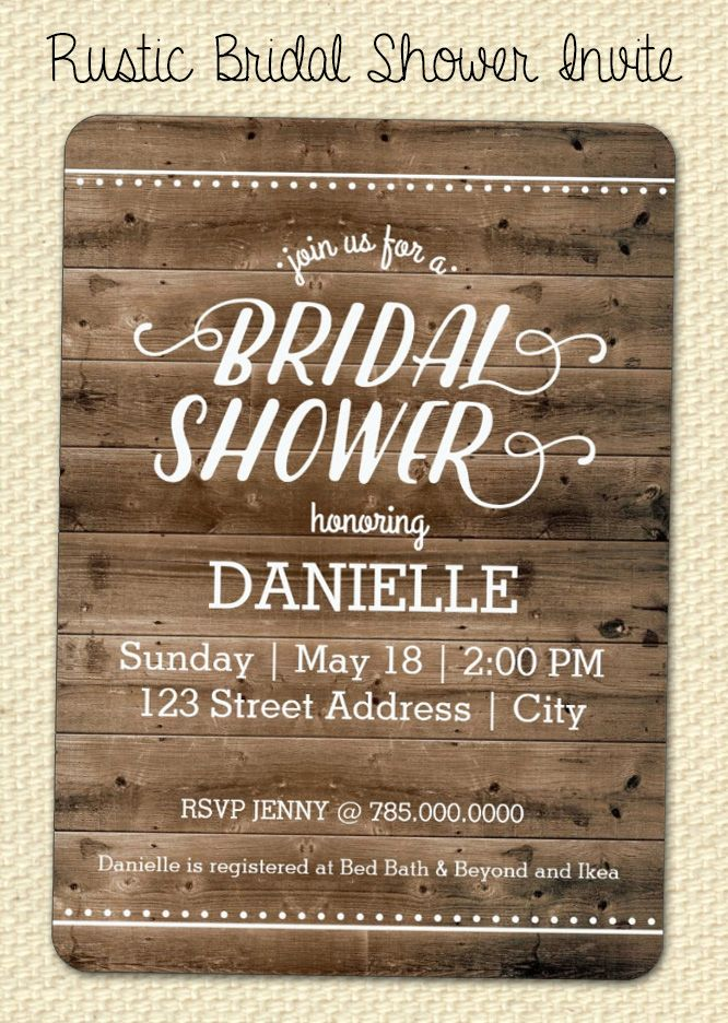 Rustic Wood Bridal Shower Invitation 74 best
