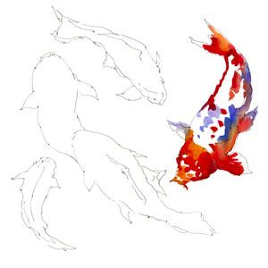 """Watercolorist Pat Weaver demonstates how to paint the """"Colors of Koi"""""""