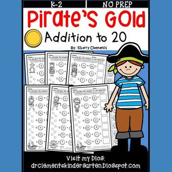 50% off for 24 hrs~(until 11:59 PM EST 02/05/17) Pirate's Gold Addition to 20 - Great for Talk Like a Pirate Day in September or St. Patrick's Day in March.This two page FREEBIE SAMPLE of Gold Coins Addition to 20 at the link below is a resource similar to this one:Gold Coins Addition to 20 FREEBIE SAMPLEThis is a cut and paste resource with 35 pages.