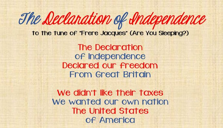 Declaration of Independence song