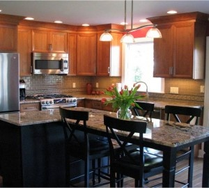 This Looks Like A Great Place For The Family To Gather Thanks Markiv Kitchen Kitchen Island Seatingkitchen