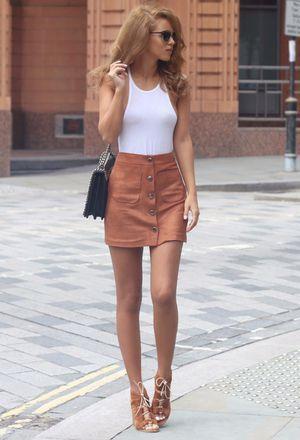 Look by @debora1995 with #zara #heels #skirts #bags #missselfridge #tanks #carvela #kitandace.