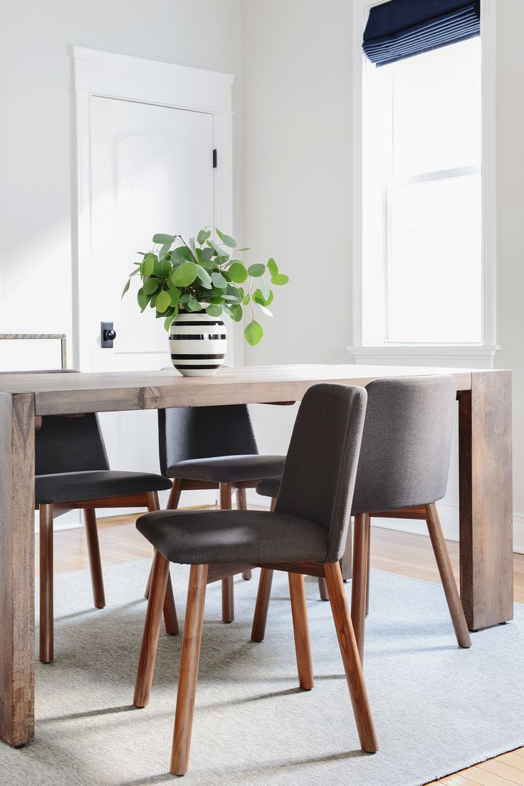Space saving dining tables wenge minima simple aluminium dining table - Blu Dot Chip Chairs In Gunmetal Yellow Brick Home