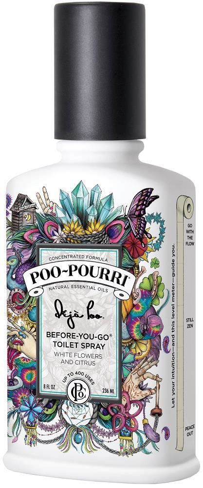 Deja Poo 2oz Bottle - Before-You-Go Bathroom Spray The Farewell that doesn't smell. Live your life Doody Free by eliminating those embarrassing bathroom odors. Spray this soaring blend of all natural