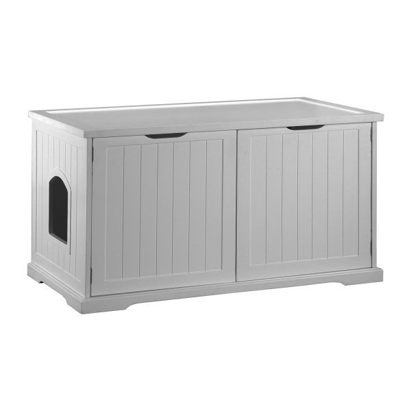 MERRY PRODUCTS CAT WASHROOM BENCH LITTER BOX CABINET