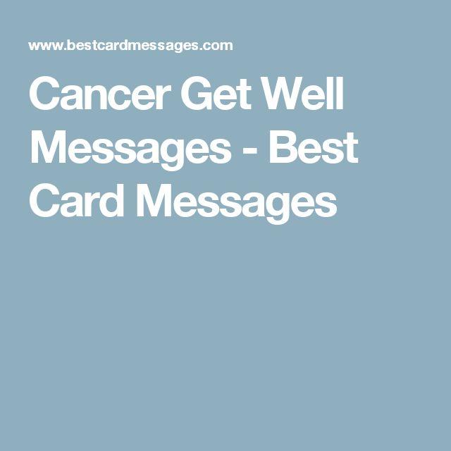Cancer Get Well Messages - Best Card Messages