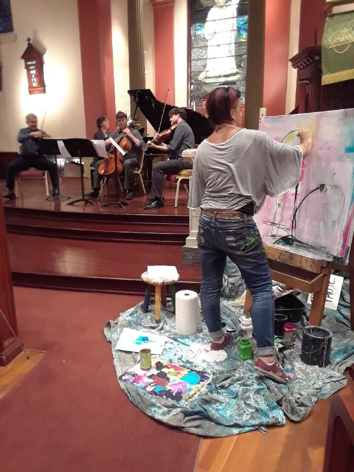 Do you listen to music while painting? 🎵 🎨 🎶 Local artist