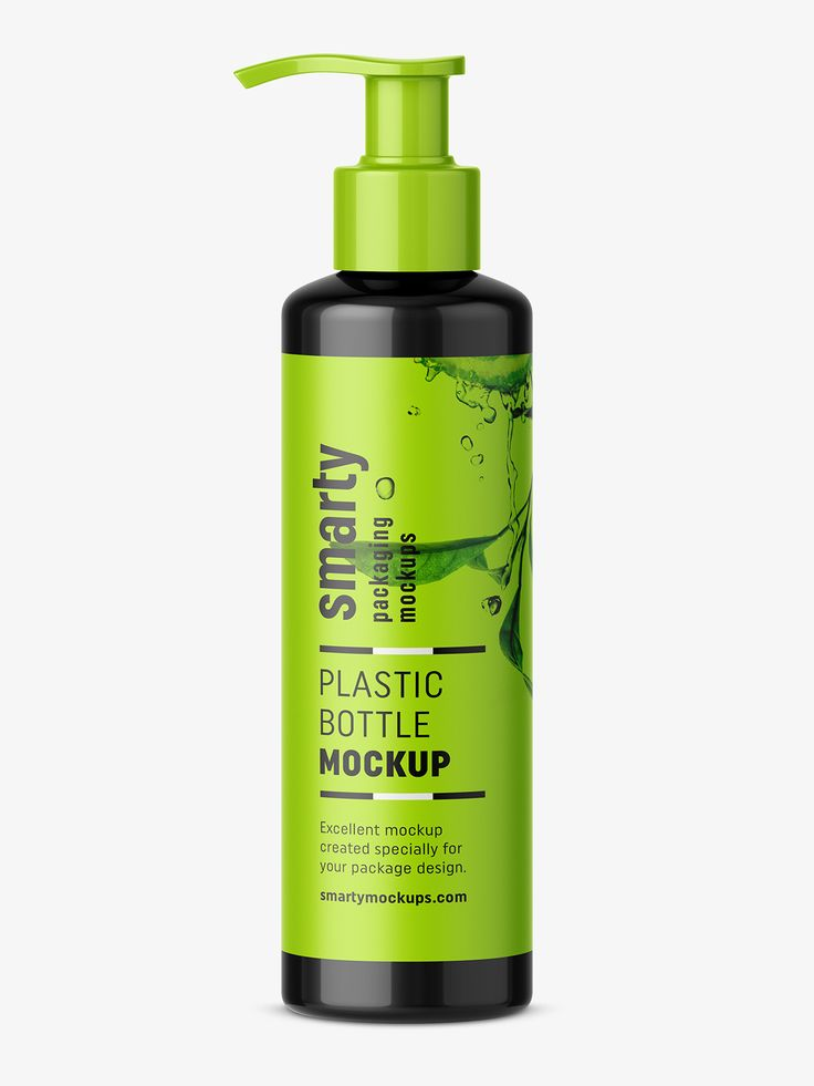 Cosmetic bottle with pump