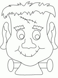 coloring page scary halloween