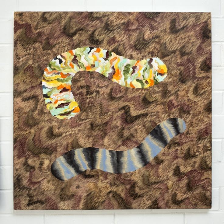 AMBER WILSON, Break into Blossom, 2013, Oil on canvas, 600 x 600mm