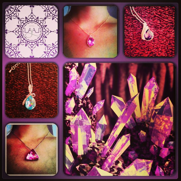 Layal glyfada crystal necklaces