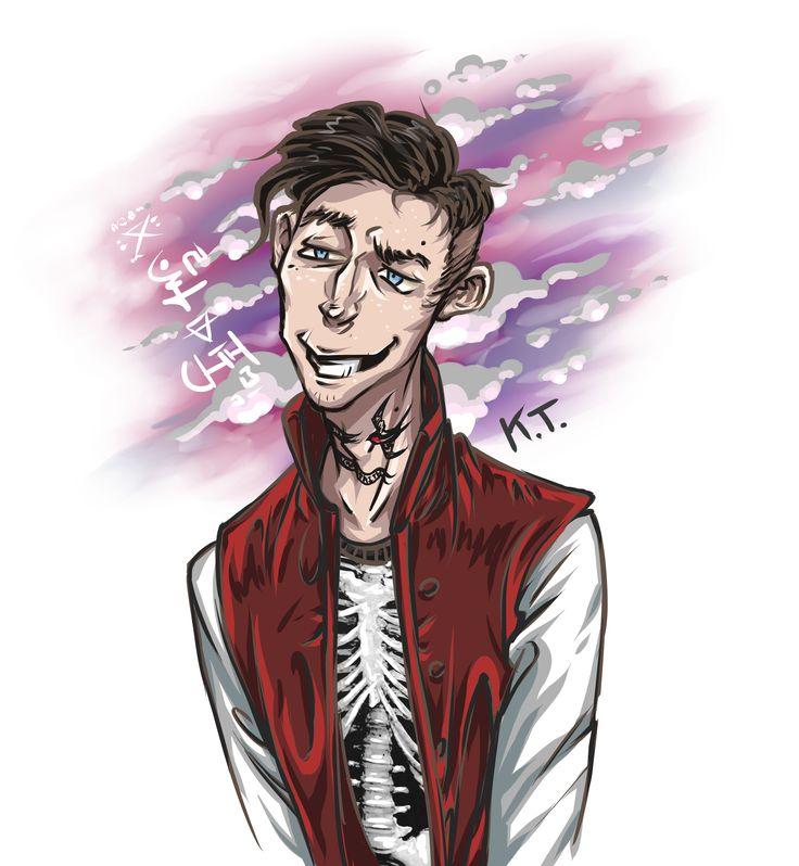 #Unknown_Armies #New_Frank #forlorn_duke #адепт  Хиз Харпер, аватар Торговца. 28 лет. Один из второстепенных персонажей комикса Нью-Франк.