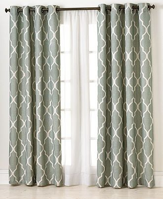 Elrene Window Treatments, Medalia 52 x 95 Panel - Extra-Long Curtains - for the home - Macys $58