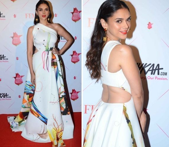Image result for Aditi Rao Hydari one side off shoulder