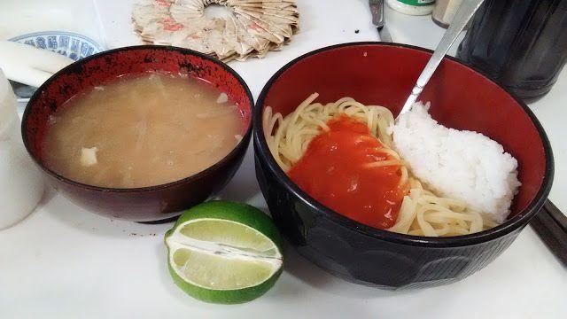 ホラー漫画家・神田森莉 不味そう飯: ナポリタンスパゲッティのご飯乗せ。どんなものでもご飯を乗せるとたちまち、貧相になるという法則である。...