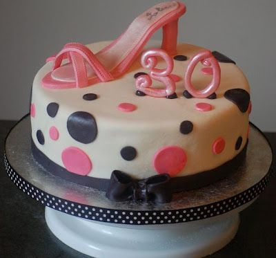 30th Birthday Cakes For Women: 30 Birthday, Cool Birthday Cakes, Cakes Ideas, Creative Ideas, 30Th Bday, Bday Cakes, Pink Shoes, Birthday Ideas, 30Th Birthday Cakes