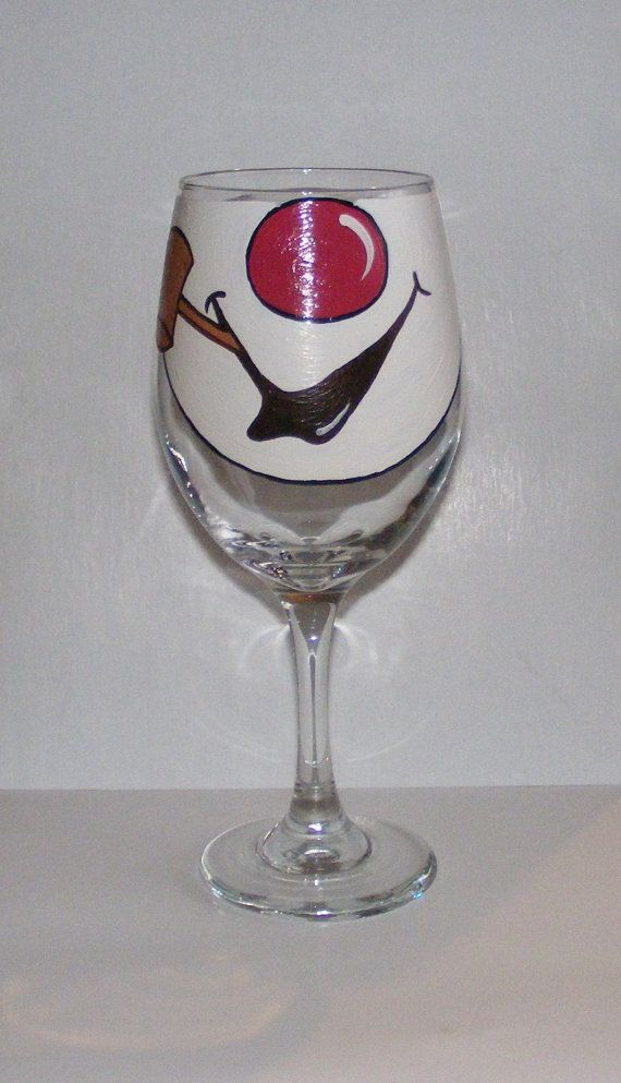 Face Changing Wine Glass by Jennie Nelson FROSTY THE by braintees