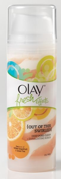 Olay Fresh Effects Out of this Swirled! Deep Pore Clean + Exfoliating Scrub with essence of white grapefruit and green tea
