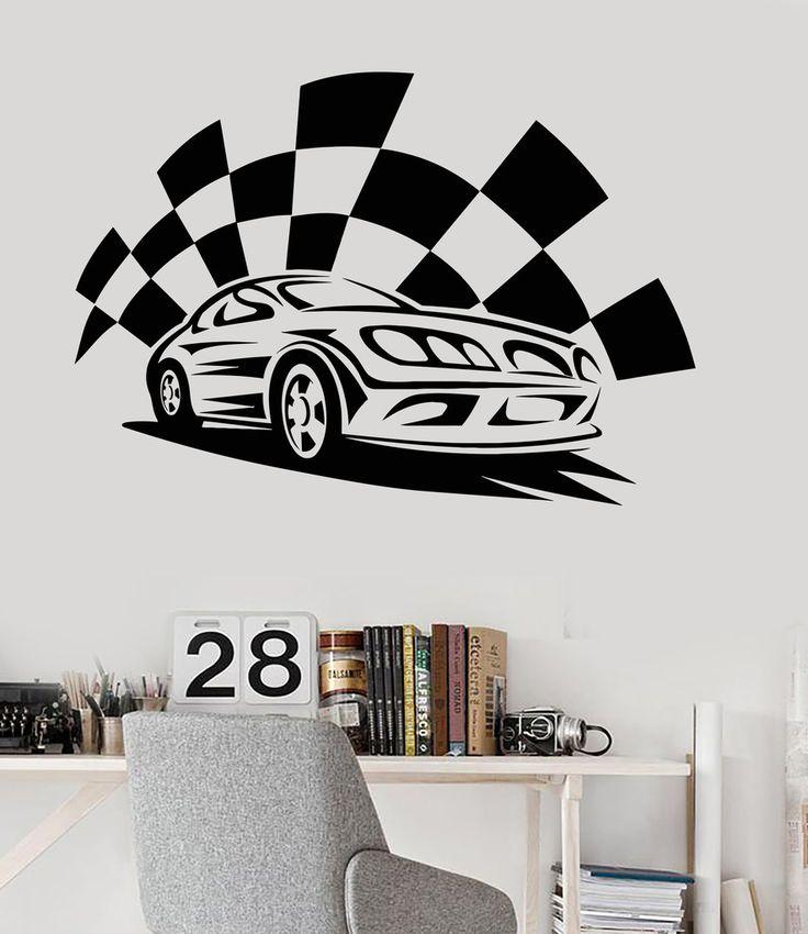 Best Racing Cars Images On Pinterest Murals Racing And - Lightning mcqueen custom vinyl decals for carlightning mcqueen camaro car decals unique items racing