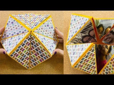 Carta origami flexahedron | Craftingeek - YouTube