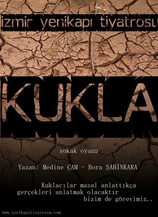 """Haziran 2011. İzmir Yenikapı Tiyatrosu'nun sokak oyunu """"Kukla"""" için tasarladığım afiş."""