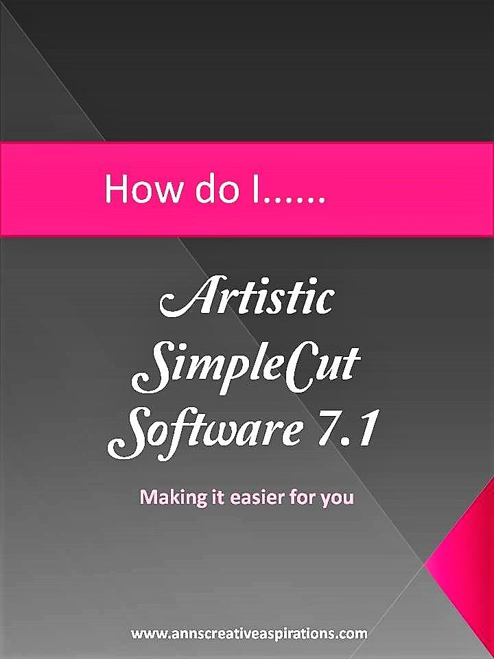 SimpleCut Software How to���