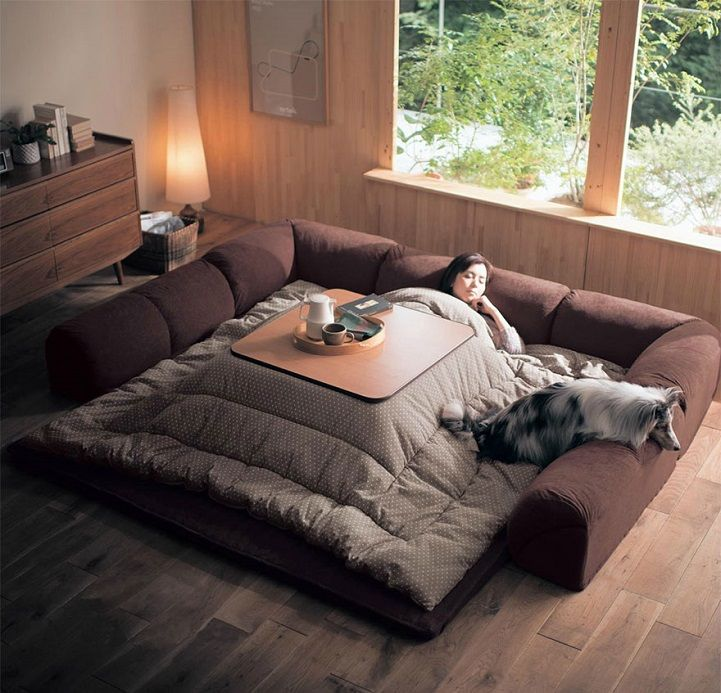 Kotatsu Is A Japanese Table That Offers The Comfort Of A Giant Warm Bed In 2020 Japanese Living Rooms Japanese Home Decor Asian Home Decor #space #heater #living #room