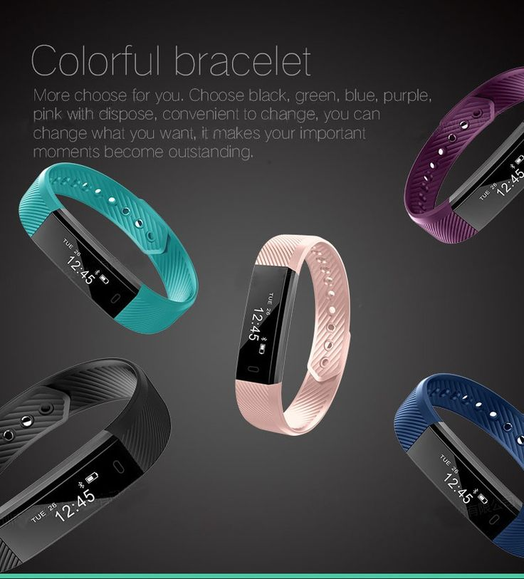 Smart band Fitness Tracker Bluetooth 4.0 Wristband Smart Pedometer Bracelet For iOS Samsung Android Fitbit Mi band US $