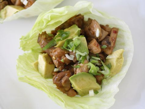 Paleo Lettuce Wrap. Maybe use coconut aminos in place of the wheat-free soy sauce. #paleo #primal
