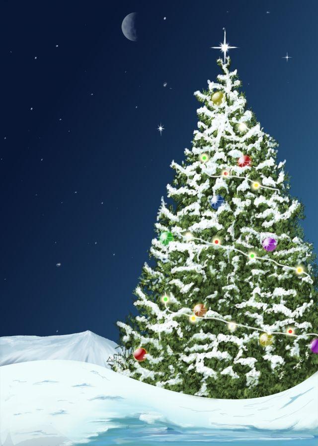 Christmas Card Template Snow Vector Landscape Illustration Christmas Card Template Christmas Landscape Christmas Invitation Card