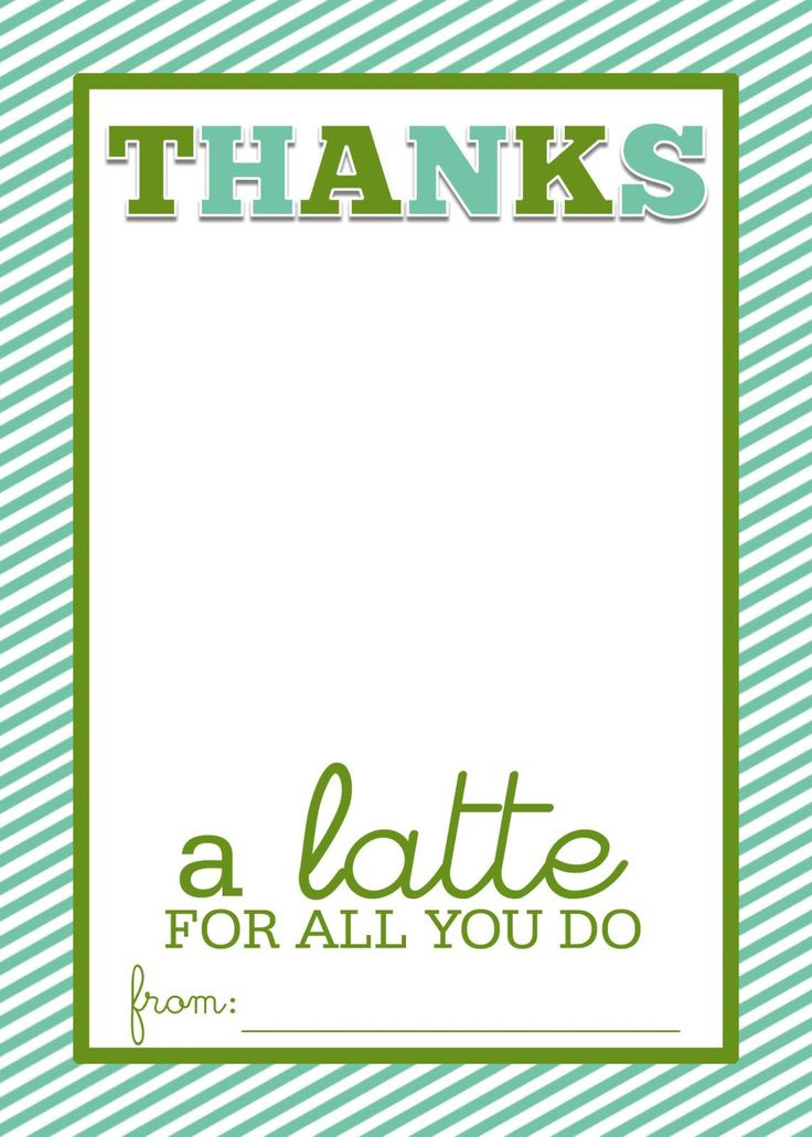 """Easy Teacher Gift Craft """"Thanks A Latte"""" Starbucks Gift ..."""