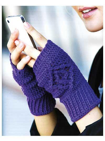 Mejores 18 imágenes de Crocheted gloves en Pinterest | Guantes de ...